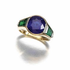 Sapphire, emerald and diamond ring, Fasano - Sotheby's