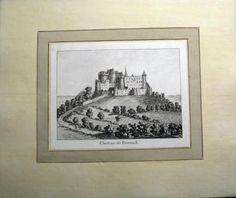 1776 Rosenberg Aquatint Chateau DORNACH Dorneck Solothurn SWITZERLAND wash…