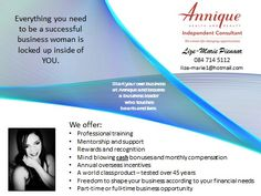Have you had a long, hard week? Perhaps it's time to make a change! Join Annique and earn from the start! You work your own hours and you build your own business! What you put in is directly linked to what you get out! Consultant Business, Make A Change, Business Women, Health And Beauty, Join, Mindfulness, Success, Skin Care, Unique