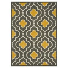 Yellow Gray Aqua Rug Urban Outfitters Foyer