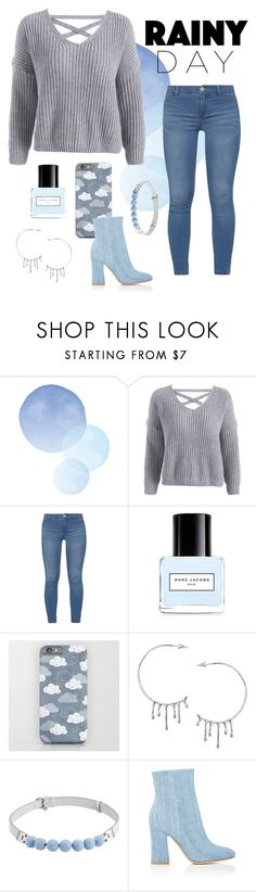 """""""Rainy day 💦☂️"""" by lemon54 ❤ liked on Polyvore featuring Dorothy Perkins, Marc Jacobs, Annika Burman, Henri Bendel and Gianvito Rossi"""