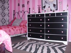 paris themed girls room | Pink Paris, A pink Paris themed bedroom that I decorated for my ...