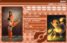 Charmander by Unknown Cosplayer Charmander, Cosplay, Pokemon, Baseball Cards, Frame, Movie Posters, Film Poster, Popcorn Posters, A Frame