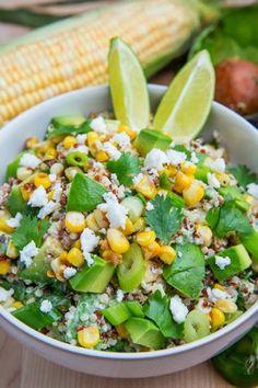 Avacado and geilled corn salsa: http://authenticsuburbangourmet.blogspot.com/2011/05/avocado-and-grilled-corn-salad-with.html?m=1