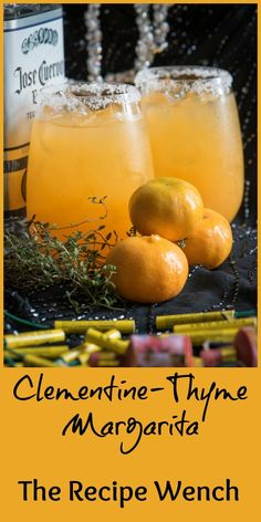 Clementine and Thyme are a genius combo! Just add tequila and you're golden! | The Recipe Wench: