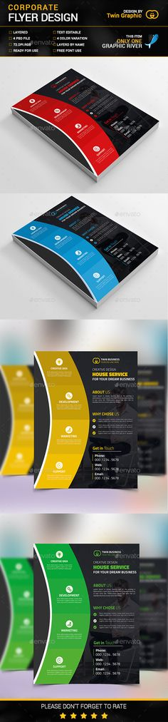 Corporate Flyer Design Template PSD. Download here: http://graphicriver.net/item/corporate-flyer-design/14884041?ref=ksioks