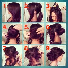 Beautiful and easy hairstyle idea