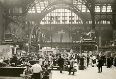 Pennsylvania Station waiting room during demolition, September 17, 1965.  Photograph by Alexander Hatos, PR 048.  NYHS Image #83919d.
