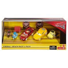Disney Pixar Cars 3 - Fireball Beach Race Diecast Vehicle 4pk