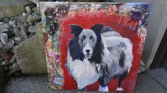 Randall | David Charles Fox | Acrylic on Canvas davidcharlesfoxexpressionism.com #dogpainting #petportrait #expressionism