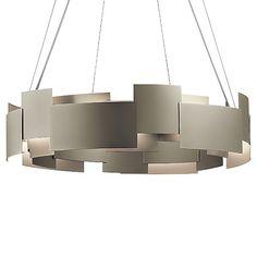 Moderne Round LED Chandelier by Kichler - Color: Olde Bronze - Finish: Olde Bronze - Entrance Lighting, Interior Lighting, Home Lighting, Modern Lighting, Lighting Ideas, Kitchen Pendant Lighting, Led Pendant Lights, Pendant Light Fixtures, Chandeliers
