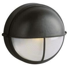 Filament Design Negron 1-Light Outdoor Black Wall Light-CLI-XY775379345617 - The Home Depot