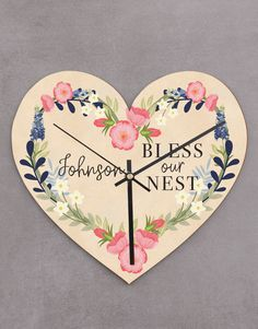 Personalised Bless Our Nest Heart Clock Pink Happy Birthday, Happy Birthday Candles, Grandparents Day Gifts, Grandpa Gifts, Heart Balloons, Helium Balloons, Gift Delivery, Unicorn Balloon, Lucky To Have You