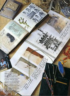 Travel journal - Collage art sketch book