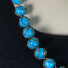 Hey, I found this really awesome Etsy listing at https://www.etsy.com/listing/262531228/venetian-murano-glass-bead-necklace-sky