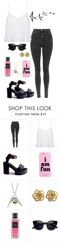 """""""Try"""" by mshlychenko ❤ liked on Polyvore featuring Alice + Olivia, Victoria's Secret, women's clothing, women, female, woman, misses and juniors"""