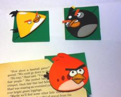 Angry Birds corner bookmarks