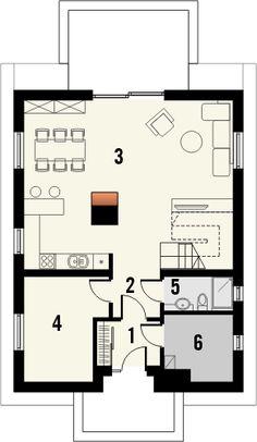 Projekt domu Decorum - rzut parteru Floor Plans, Decor, House Design, Floor Layout, Dekoration, Decoration, Decorating, Floor Plan Drawing, House Floor Plans