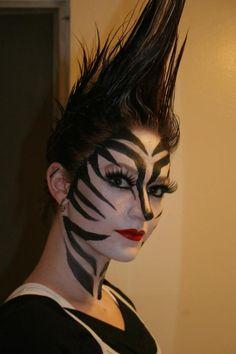 Die 8 Besten Bilder Von Zebra Fasching Schminken
