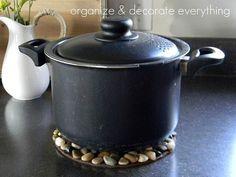 Ideas para el hogar: Posafuentes para el calor con piedras