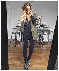 Veste #vintage (very old) gilet #hm jean #thekooples boots #Chloe #ootd