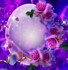 Romancing the Rose. Rose Frame, Flower Frame, Flower Art, New Background Images, Hearts And Roses, Islamic Images, All Things Purple, Love Wallpaper, Photo Backgrounds