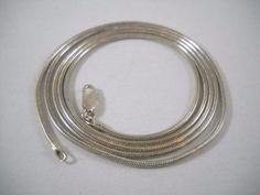"""2mm #925Sterling #925Silver #925SterlingSilver #Sterling #Silver #SterlingSilver Round #SnakeChain #Chain, 13.4g, 30"""" #Jewelry #Jewellery"""