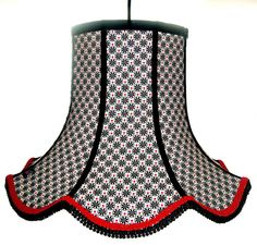 Handmade Fabric Lampshade: Dotty