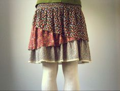 layered skirt, zara, spring, floral