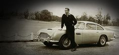"""Aston Martin Heritage. The iconic DB5, James Bond's car of choice in the classic film """"Goldfinger"""""""
