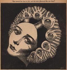 "Hannes Bok 'By What Mystic Mooring', ""Weird Tales"", Vol. Vintage Images, Vintage Art, Painting The Roses Red, Dark Art Drawings, Sketch Painting, Design Graphique, Vintage Comics, Portrait Art, Art Inspo"