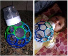 So kann das Baby die Flasche leicht selber halten