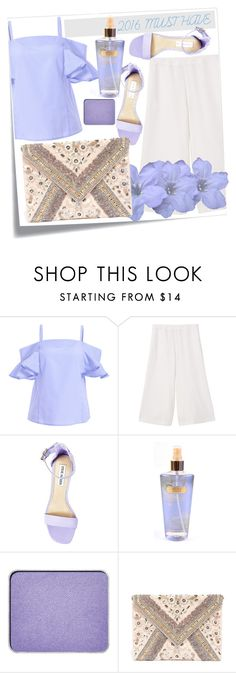"""Must have..."" by lana-97 ❤ liked on Polyvore featuring MANGO, Steve Madden, Victoria's Secret, shu uemura and LULUS"