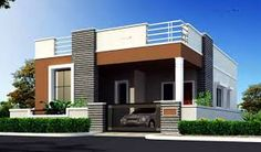 House elevation small house elevation related image small house front elevation in house house front elevation designs small house design front porch House Wall Design, Single Floor House Design, Bungalow Haus Design, House Front Design, Small House Design, Independent House, Front Elevation Designs, House Elevation, Modern Exterior House Designs