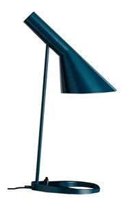 Arne Jacobsen Table Lamp by Louis Poulsen Designer: Arne Jacobsen. Original AJ Table Lamp manufactured under license in Denmark by Louis Poulsen. Arne Jacobsen, Desk Light, Light Table, Copenhagen Hotel, Danish Design Store, Desk Lamp, Table Lamps, Interior Lighting, Lighting Design