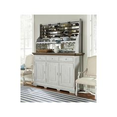 Credenza with Wine-On-The-Wall Rack