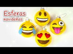 Manualidades para Navidad: ESFERAS navideñas de EMOJIS - Innova Manualidades - YouTube