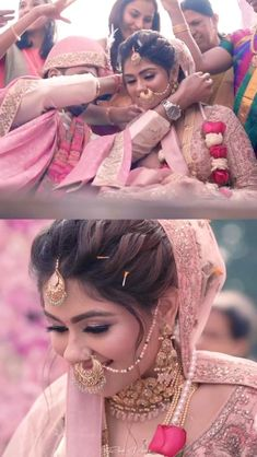 Wedding Dance Video, Pre Wedding Videos, Open Hairstyles, Hairstyles With Bangs, Wedding Hairstyles, Indian Bridal Photos, Indian Bridal Outfits, Indian Wedding Photography Poses, Bride Photography