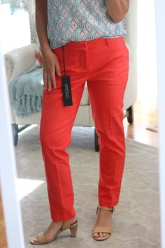 Dear Stylist, I love the professional cut of these trousers! I'm not sure I can pull off this particular color, but it would be nice to add something bright to my dress clothes... I currently only have navy straight leg and black boot cut trousers!