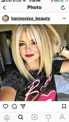 Bob Hairstyles With Bangs, Fast Hairstyles, Hairstyles 2018, Teenage Hairstyles, School Hairstyles, Natural Hairstyles, Shoulder Length Layered Hairstyles, Shoulder Length Hair Cuts With Bangs, Girl Hairstyles
