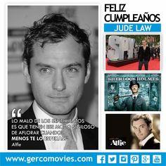 Hoy celebramos 43 años del actor #JudeLaw. Famoso por su actuación en Sherlock Holmes. ¡Felicidades!