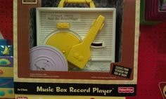 Childhood memories of a play record player