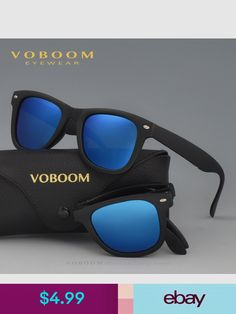 70f06d605b8 Mens Womens Folding Foldable Sunglasses Polarized Retro Driving Mirrored  New 1