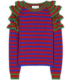 GUCCI Striped Wool Sweater. #gucci #cloth #sweater
