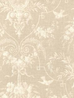 12/31cm Wallpaper SAMPLE Beautiful Victorian Floral Cameo