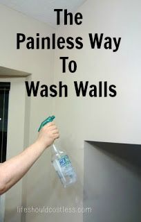 The Painless Way To Wash Walls. This method saves so much time AND headache! It's especially helpful if you have tall walls or vaulted ceilings.