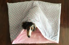 Dog Winter Accessories - Ready for the Chill? | Australian Dog Lover - These cosy dog sleeping bags from My Dachshund Online are fully lined and have a thick soft layer in-between two layers of fleece for warmth and comfort.