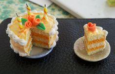 Orange Cake Dollhouse Miniature