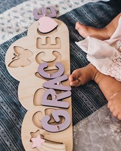 Toddler Birthday Gifts, Baby Birthday, Name Puzzle, Puzzles For Toddlers, Name Gifts, Personalized Baby Gifts, Montessori Toys, Learning Colors, Baby Girl Gifts