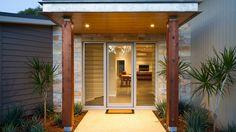 Ideas Exterior Render House Entrance For 2019 Modern Entrance, Entrance Design, Facade Design, Exterior Design, House Design, Entrance Ideas, Door Ideas, Wall Exterior, Exterior Cladding